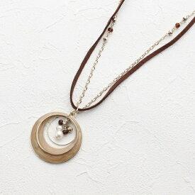 月の輪フープ2連ネックレス/サンカンシオン(レディス)(3can4on Ladies)