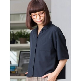 WEGO/オープンカラークロップド5分袖シャツ/ウィゴー(レディース)(WEGO)