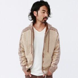 ニット&裏毛ドッキング加工パーカー/ルパート(VOGUISH/ヴォーギッシュ)
