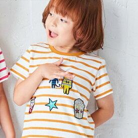 Tシャツ(わくわくワッペンTシャツ)/ハッシュアッシュ(キッズ)(HusHusH Kids)