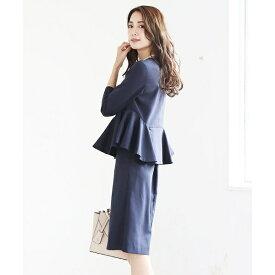 スカート セットアップ フォーマル スーツ ブラックフォーマル 結婚式 喪服 大きいサイズ/クリーム(C.R.E.A.M)