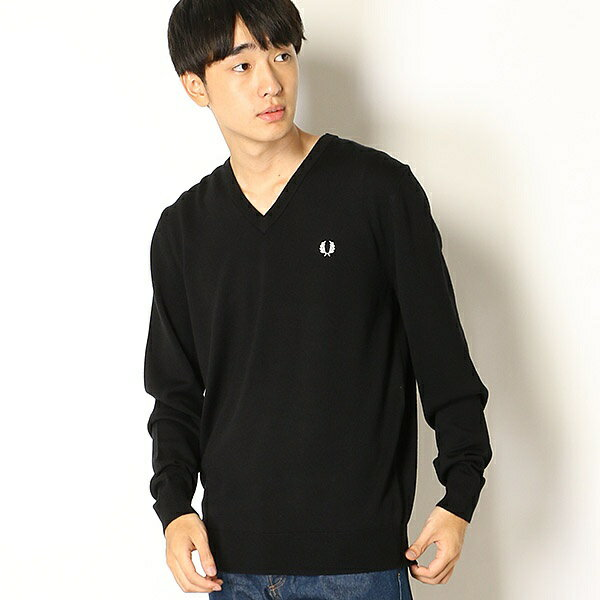 【18AW】CLASSIC V NECK SWEATER/フレッドペリー(メンズ)(FRED PERRY)