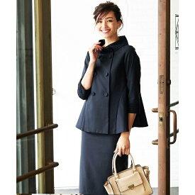 スカート ジャケット セットアップ フォーマル スーツ ブラックフォーマル 結婚式 大きいサイズ/クリーム(C.R.E.A.M)