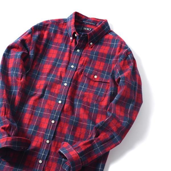 SERO×SHIPS JET BLUE: 別注 ボタンダウン ネルチェックシャツ/シップス ジェットブルー(SHIPS JET BLUE)