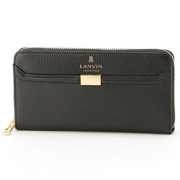 クゥ ラウンドファスナー長財布(カード入れ22カ所の大容量)/ランバンコレクション(ウォレット)(LANVIN COLLECTION)