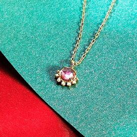 K10YG ピンクトルマリン ダイヤモンド ネックレス【10月誕生石】/VA ヴァンドーム青山(VAvendomeaoyama)