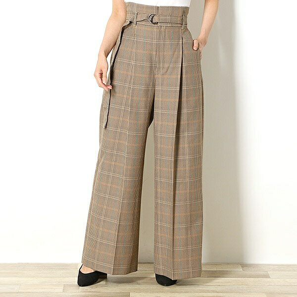 【18AW】『雑誌FUDGE 10月号掲載商品』WIDE TROUSERS/フレッドペリー(レディス)(FRED PERRY)