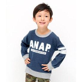カットデニム×ミニ裏毛/アナップキッズ&ガール(ANAP KIDS&GIRL)