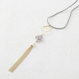 樹脂×チェーンタッセルネックレス/サンカンシオン(レディス)(3can4on Ladies)