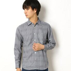 グレンチェックシャツ/モルガンオム(MORGAN HOMME)