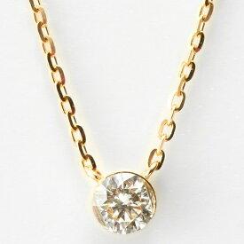 K18ダイヤモンドネックレス/アガット(agete)