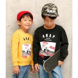 スケボープリントトレーナー/アナップキッズ&ガール(ANAP KIDS&GIRL)