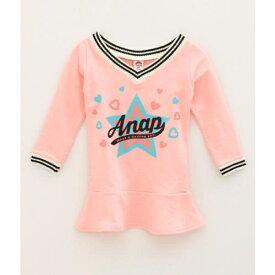 ラインリブ裾フレアワンピース/アナップキッズ&ガール(ANAP KIDS&GIRL)