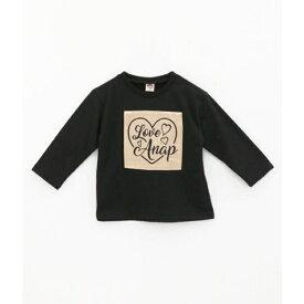 刺繍ロゴワッペンチュニック/アナップキッズ&ガール(ANAP KIDS&GIRL)