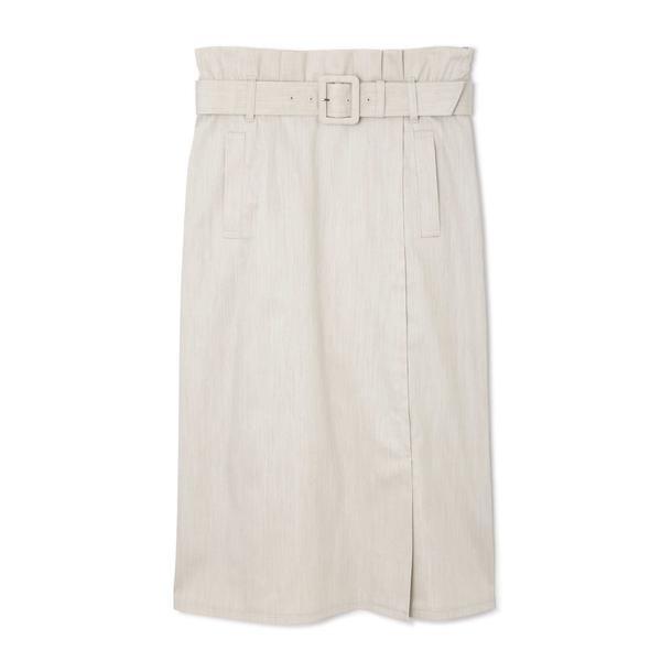 ◆大きいサイズ◆スラブシャンブレースカート/ナチュラルビューティー ラージ(NATURAL BEAUTY LARGE)