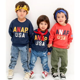 USAロゴBIGトレーナー/アナップキッズ&ガール(ANAP KIDS&GIRL)