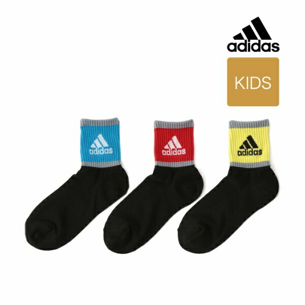 adidas(アディダス) 3足組 強ソク サイドロゴ ショート丈ソックス/アディダス(レディースレッグウェア)(adidas(Ladies Leg Wear))