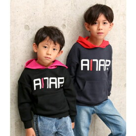 配色フーディートップス/アナップキッズ&ガール(ANAP KIDS&GIRL)