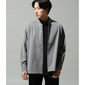 シャドーストライプ2wayカラーシャツ/ジュンレッド(JUNRed)