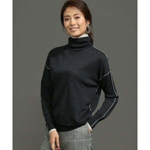 【シルク・カシミヤ混】Wool Silk Cashmere ハイネックニット/アイシービー L(ICB L)