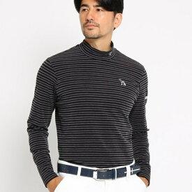 MTシャツ(【吸湿発熱】 ボーダーハイネック メンズ)/アダバット(メンズ)(adabat(Mens))