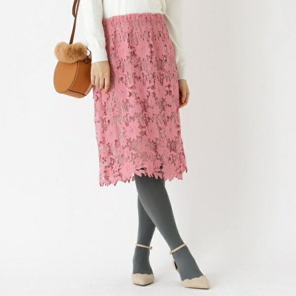 Lスカート(【WEB限定サイズ(S・LL)あり】総レーススカート)/クチュールブローチ(Couture Brooch)