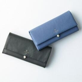 シャペル パール付きフラップ長財布/ランバンオンブルー(LANVIN en Bleu)
