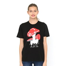 【ユニセックス】ベーシックTシャツ/マッシュルームビューティフルシャドー/グラニフ(graniph)