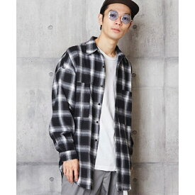裾切りっぱなしチェックシャツ コットンチェックシャツ/アンリラクシング(unrelaxing)