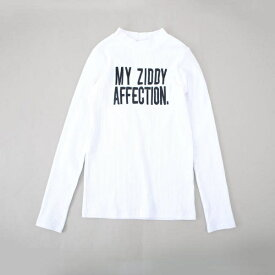 【ニコプチ掲載】【カタログ掲載】ロゴ刺繍リブカットソーTシャツ/ジディ(ZIDDY)