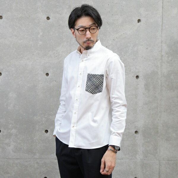 ツィードポケットOXBDシャツ/メンズメルローズ(MEN'S MELROSE)