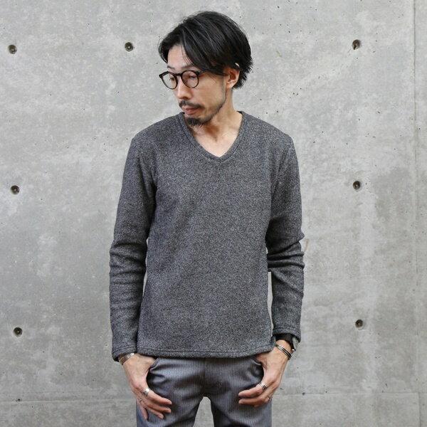 メランジパイル裏起毛Tシャツ/メンズメルローズ(MEN'S MELROSE)