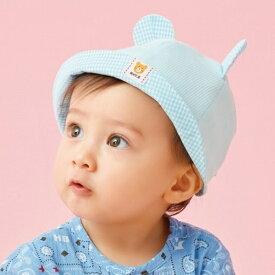 帽子(ベビー / くまみみ・ギンガムチェック)/ミキハウス ホットビスケッツ(MIKIHOUSE HOT BISCUITS)
