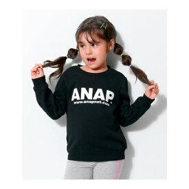 アドレスロゴ裏起毛TOP/アナップキッズ&ガール(ANAP KIDS&GIRL)