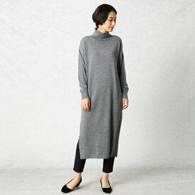 【洗える】ロングスリット ニット ドレス/コムサマチュア(Comme ca Mature)