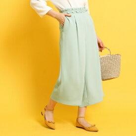 【洗える】ウエストフリルガウチョパンツ/クチュールブローチ(Couture Brooch)