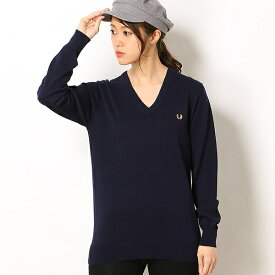 【19SS】TIPPED V NECK SWEATER/フレッドペリー(レディス)(FRED PERRY)