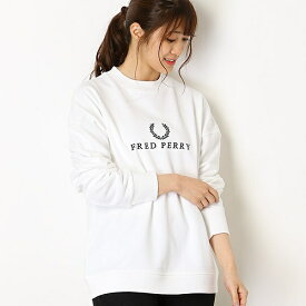 【19SS】EMBROIDERED SWEATSHIRT/フレッドペリー(レディス)(FRED PERRY)