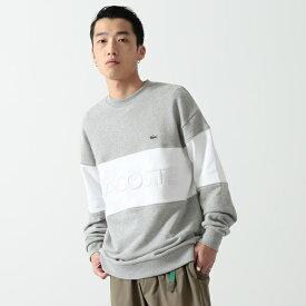 【WEB先行販売】LACOSTE × BEAMS / 別注 刺繍 ビッグロゴ スウェット/ビームス(BEAMS)
