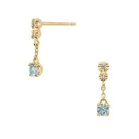 K18YG ダイヤモンド0.020 CT アクアマリンピアス【3月誕生石】/VA ヴァンドーム青山(VAvendomeaoyama)「不良品のみ返品を承ります」