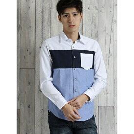 オックス3段切替レギュラーカラー長袖シャツ/タカキュー(TAKA-Q)