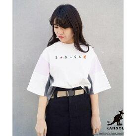 【WEB別注】KANGOLコラボブロッキングTシャツ/179/WG(179 WG)