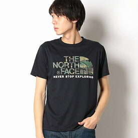 【THE NORTH FACE】Tシャツ(メンズショートスリーブカモフラージュロゴティー)/ザ・ノース・フェイス(THE NORTH FACE)