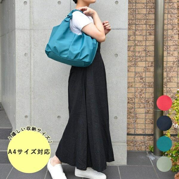 結びハンドル ナイロン トート バッグ/クーコ(cooco)