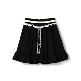 バイカラーカフェスカート / mille fille closet/ロディスポット(LODISPOTTO)
