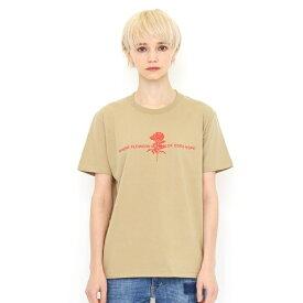 【ユニセックス】ベーシックTシャツ/ラインドローイングフラワーズ/グラニフ(graniph)