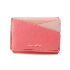 Lagato Largo カラフル3配色切り替えミニ財布/ピンクアドベ(pink adobe)