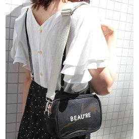【Beau re】ロゴプリンスクエアショルダーバッグ/ロペピクニックパサージュ(ROPE PICNIC PASSAGE)
