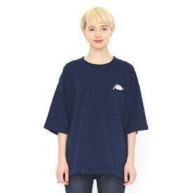 ルーズフィットミドルスリーブTシャツ/(アザラッシー)/グラニフ(graniph)