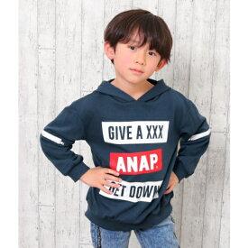 袖ZIP付フーディー/アナップキッズ&ガール(ANAP KIDS&GIRL)